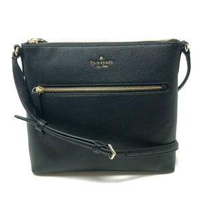 Kate Spade Jackson Top Zip Crossbody Black Bag